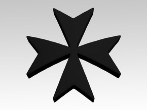 Templar Cross 2 Shoulder Icons x50 in Smooth Fine Detail Plastic