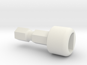 Team Associated Ballcuptool Tip 91722 B6-B64 in White Natural Versatile Plastic