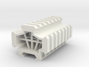 Picatinny rail splitter to 3 - 7 slot in White Natural Versatile Plastic