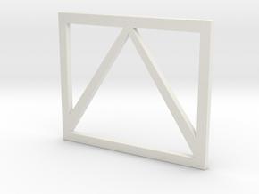 Full Metal Artist Designs KAMM-2 Windsheild Bars in White Natural Versatile Plastic