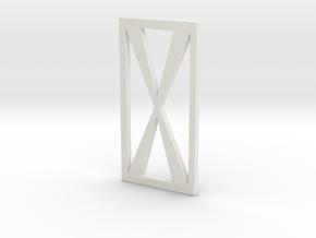 Full Metal Artist Designs KAMM-2 Top Cage Bars in White Natural Versatile Plastic