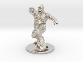 Yeti Miniature in Rhodium Plated Brass: 1:60.96