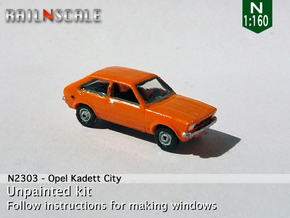 Opel Kadett City (N 1:160) in Smoothest Fine Detail Plastic