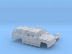 1/87 1989-91 GMC Suburban Split Rear Door Kit in Smooth Fine Detail Plastic