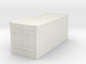 1CC Container scale 1/87 in White Natural Versatile Plastic