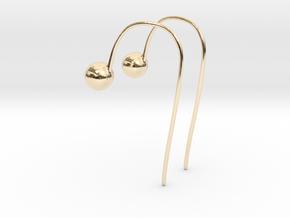 Hook Earrings in 14K Yellow Gold