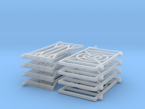 KLJ Coach gates in Smooth Fine Detail Plastic: 1:43.5