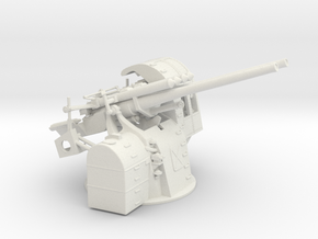 "1/48 IJN 12.7 cm/40 (5"") Type 89 Twin Mount in White Natural Versatile Plastic"