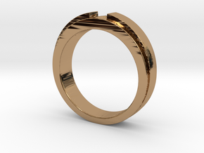 Engagement Ring Design - CC150-BL in Polished Brass