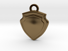 Tank Role Charm in Polished Bronze