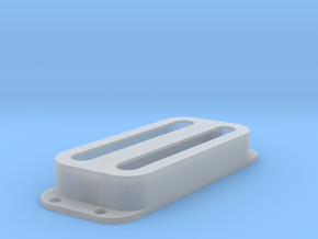 Strat PU Cover, Double, Angled, Open in Smooth Fine Detail Plastic