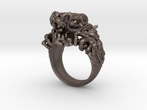 Supreme Mandarin Dragon Ring in Polished Bronzed Silver Steel: 6 / 51.5