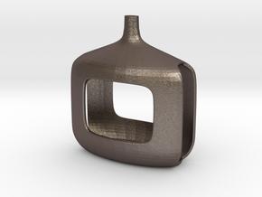 inverter 2 in Polished Bronzed Silver Steel: 28mm