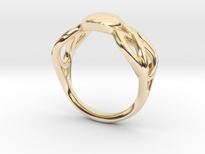 knot ring in 14k Gold Plated Brass: 8 / 56.75