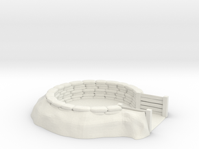 sandbag emplacement scale 1/56 (28mm) in White Natural Versatile Plastic