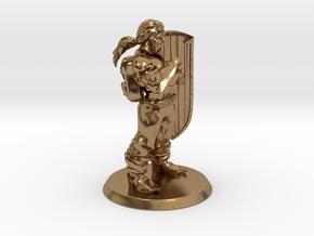 Targen of Greymaw, Shieldbrawler in Natural Brass