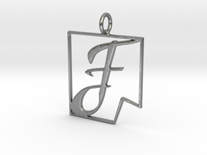 F in Fine (dent) in Natural Silver