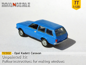 Opel Kadett Caravan (TT 1:120) in Smooth Fine Detail Plastic