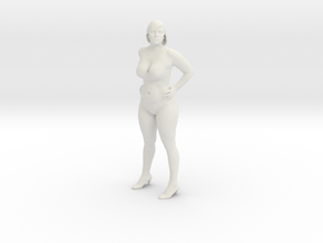 Sexy Girl Standing in White Natural Versatile Plastic: 1:87 - HO