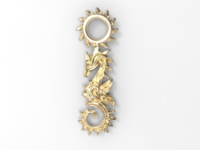 Seahorse Pendant in Polished Brass