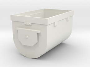 Mine Cart Body in White Natural Versatile Plastic