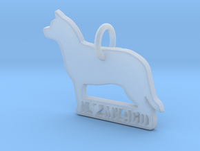 I Love My Australian Cattle Dog in Smooth Fine Detail Plastic