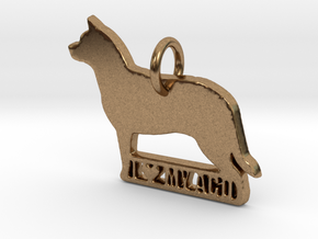 I Love My Australian Cattle Dog in Natural Brass