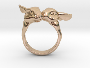 Bunny Love in 14k Rose Gold Plated Brass: 5.5 / 50.25