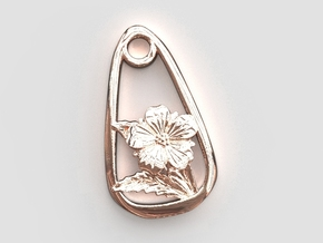 Cinque Foil Beloved Child Pendant in Polished Bronze