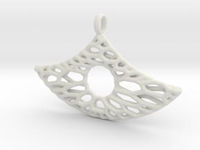 Anker Mesh Pendant 6 in White Natural Versatile Plastic
