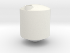 1/64 3000 Gal Cone bottom tank in White Natural Versatile Plastic