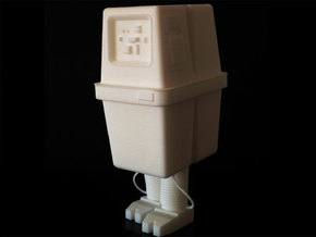 "Gonk (3"" tall) in White Natural Versatile Plastic"