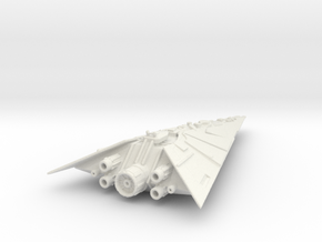 Pelleaon-Class Star Destroyer72mm in White Strong & Flexible