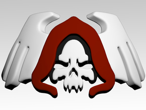 Reaper 2 Shoulder Icons x50 in Smooth Fine Detail Plastic