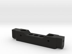 TRX-4 to HPI Venture FJ - Front Bumper Mount in Black Natural Versatile Plastic