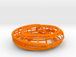 Prime Knot 8_15 on a Torus in Orange Processed Versatile Plastic