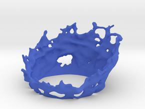 50mm - Energy Effect - Half Circle in Blue Processed Versatile Plastic