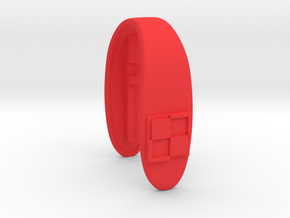 PL KEY FOB  in Red Processed Versatile Plastic