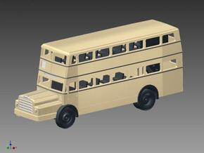 Doppelstockbus DO 54 in Spur TT (1:120) in Smooth Fine Detail Plastic