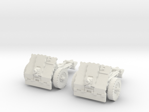leIG 7,5cm scale 1/87 (2 pieces) in White Natural Versatile Plastic