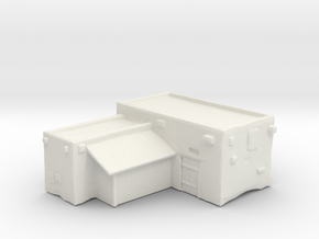Housing with extension and coverage storage in White Natural Versatile Plastic