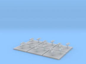 Navy Assault Boats (6) (Tall) in Smooth Fine Detail Plastic