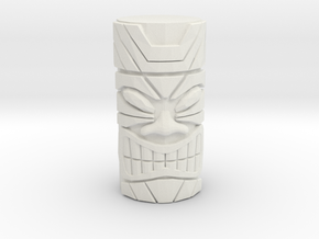 Tiki Face  in White Strong & Flexible: 6mm