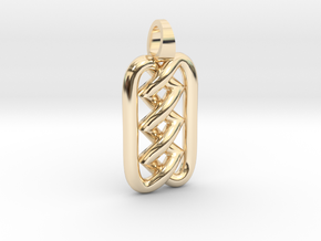 Zigzag knot [pendant] in 14K Yellow Gold