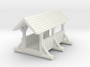 small foot bridge 4cm   planked roof in White Natural Versatile Plastic