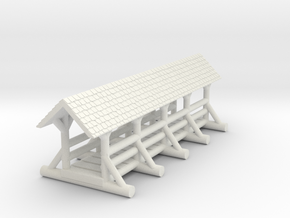 small foot bridge    roof long in White Natural Versatile Plastic