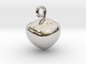 Hazelnut jewel in Platinum