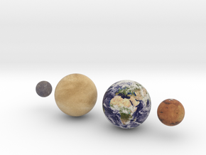 The 4 Rocky Worlds, 1:1.5 billion in Full Color Sandstone