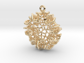 Bloom Pendant in 14k Gold Plated Brass