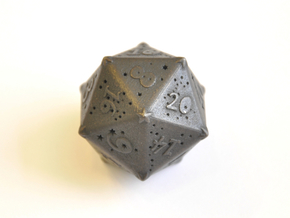 D20 Balanced - Constellations in Polished and Bronzed Black Steel